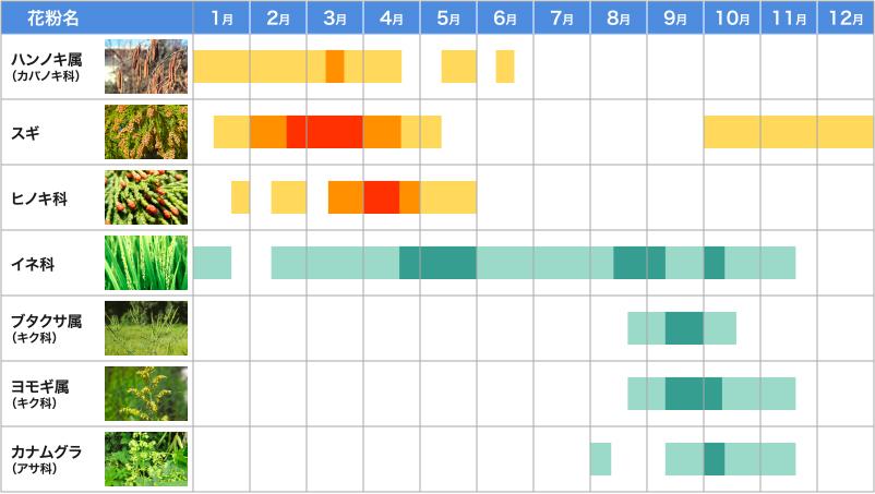 花粉カレンダー2